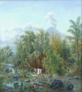 De Brantasrivier te Malang, Java
