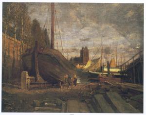 Scheepswerf te Dordrecht