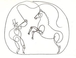 Paard met zijn trainer