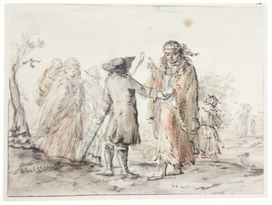 Handlezende zigeuners