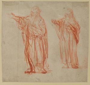 Two studies of St. John the Baptist preaching (recto)
