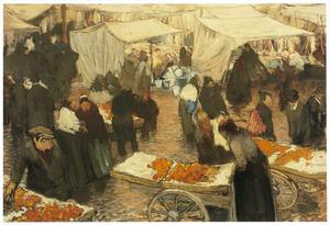 Gezicht op de Nieuwmarkt