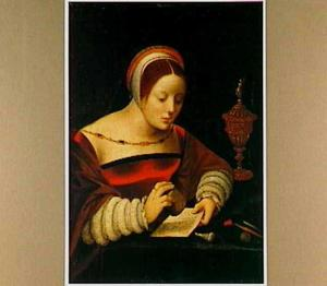 De H. Maria Magdalena met brief en zalfpot