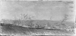 Clair de lune: Fabrieken bij maanlicht gezien vanaf een heuvel