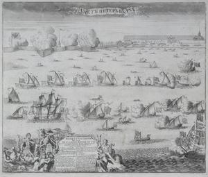 Feestelijke intocht van de Zweedse schepen op de Neva na de overwinning van de slag van Hango