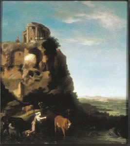 Landschap met de tempel van Tivoli