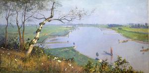 De Rijn vanaf de Wageningse Berg (Rijn en Betuwe)