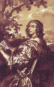 Portret van Lucy Davis, Lady Hastings, Countess of Huntingdon (1613-1679)