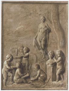 Allegorie op de schilder- en beeldhouwkunst