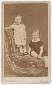 Portret van Jhr. Hendrik Jan Marie Barchman Wuytiers van Vliet  (1875-1916) en Johanna Francoise Henriette Barchman Wuytiers van Vliet  (1876-?)