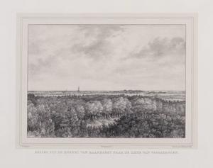 Gezicht op Voorschoten vanuit de koepel op het landgoed Raaphorst