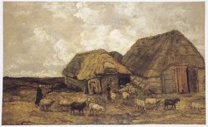 Schaapskooi bij een boerderij