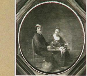 Gehoor, gepersonifieerd door een zingende man en vrouw
