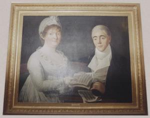Portret van een vrouw en een jonge man, mogelijk Maria Catharina Titsingh (1752-1838) en haar zoon Cornelis Abraham de Wit (1789-1868)