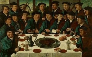 Maaltijd van zeventien schutters van de Voetboog St. Joris Doelen te Amsterdam 1533