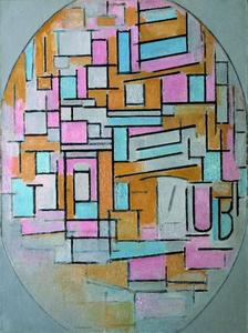 Composition in oval with color panes 2