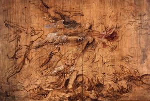 Hercules en Minerva verdrijven Mars
