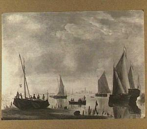 Schepen bij Dordrecht