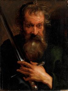 De apostel Paulus met een zwaard