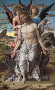 De dode Christus door engelen ondersteund: Een Engelen-Pietà