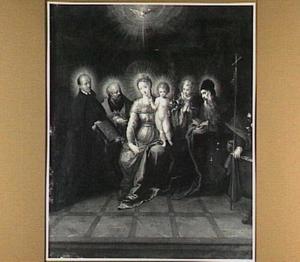 De Madonna met kind geflankeerd door de H. Ignatius van Loyola, Petrus, Johannes en Antonius Abt