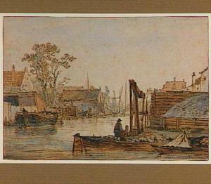 Gezicht op de Spuihaven in Dordrecht