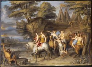 De vlucht van Cloelia over de Tiber uit het legerkamp van Porsenna (Livius 2:13; Plutarchus 6:19)