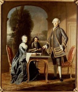 Portret van Daniel Radermacher (1722-1803), Susanna Libertine Boogaert van Alblasserdam (1734-1780) en hun zoon Samuel Radermacher (1764-1793)