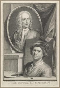 Portetten van Isaac Walraven (1686-1765) en Jan Maurits Quinkhard (1688-1772)