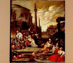 Jehu laat zijn soldaten de aanhangers van Baäl doden  (2 Koningen 10: 25)