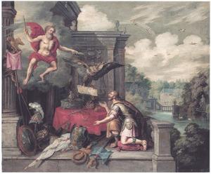 Jupiter kroont Ferdinand III tot keizer van het Duitse Heilige Roomse Rijk