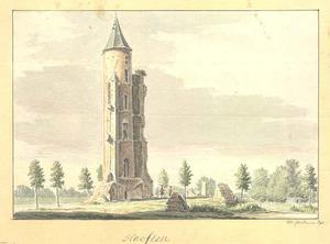 De toren van het voormalig slot Goudenstein te Haaften