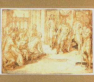 De broers van Jozef smeken hem om de terugkeer van Benjamin naar hun vader Jacob (Genesis 44:18-33)