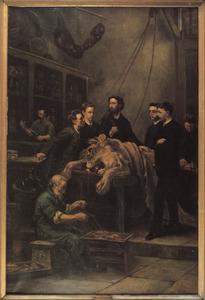 Anatomische les van Max Weber