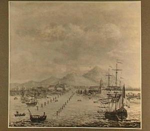 Hollandse schepen voor de Indische kust