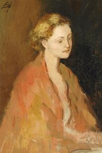 Zelfportret van Maria Elisabeth Georgina Ansingh (1875-1959)