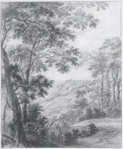 Heuvellandschap met bomen