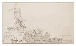 Een windmolen op een bastion