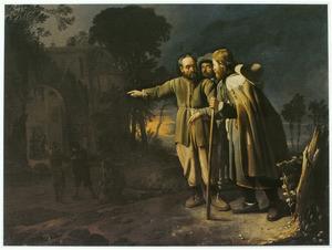 Het herbergen van vreemdelingen (een van de zeven werken van barmhartigheid