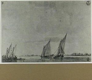 Binnenvaartschepen op kalm water
