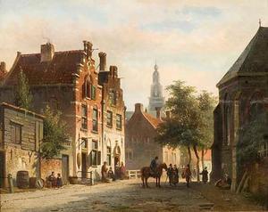 Vergezicht op de Bakenessertoren te Haarlem