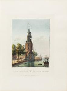 Gezicht op de Montelbaanstoren te Amsterdam