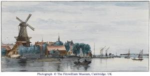 Dordrecht vanaf de Merwe