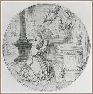 De engel verkondigt Zacharias de geboorte van Johannes de Doper
