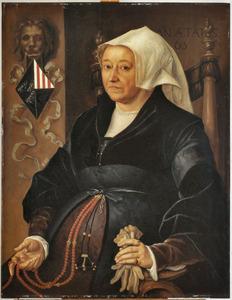 Portret van Margaretha van Binchem (1475-1546)