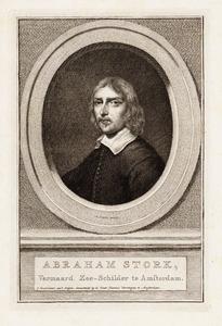 Portret van Abraham Jansz. Storck (1644-1708)