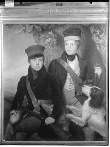 Dubbelportret van de latere koning Willem III (1817-1890) en prins Alexander van Oranje- Nassau (1818-1848)