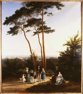 Portret van de familie van Isaac Jacobus Rochussen (1794-1881) en Hermina Johanna Maria Scharff (1808-1875)