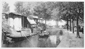 Stille waterweg in Holland