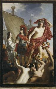 De ontscheping van Mary Stuart en de begroeting van Willem II